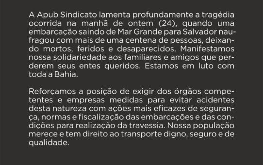 NOTA DE PESAR APUB SINDICATO