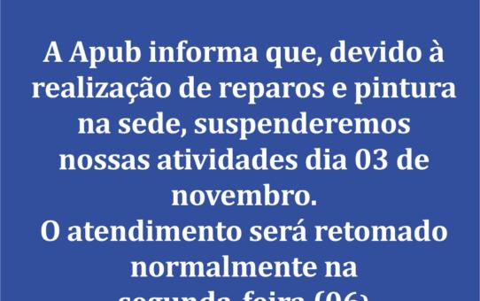 AVISO HORARIO DE FUNCIONAMENTO DA SEDE