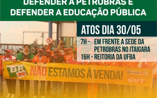 CARD ATOS EM DEFESA DA PETROBRAS