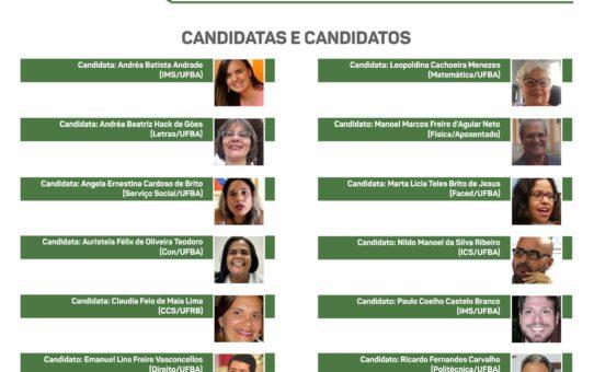 CARTAZ COM CANDIDATOS XIV ENCONTRO NACIONAL DO PROIFES CARTAZ
